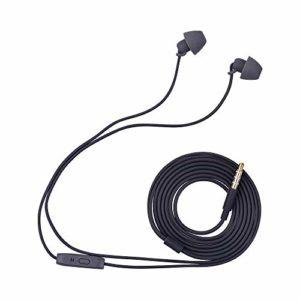Fesjoy Miss Zhou Mini écouteurs filaires écouteurs intra-auriculaires Écouteurs pour femmes avec microphone stéréo 3,5 mm prise plaquée or, y compris bouchons d'oreille d'isolation acoustique