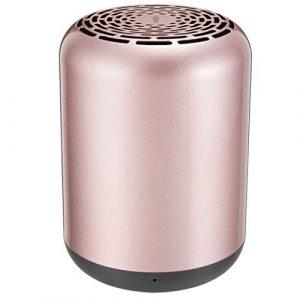 Ffshop Haut-Parleur Portable Bluetooth sans Fil Haut-Parleur Portable de téléphone de Voiture de Subwoofer de Carte de Haut-Parleur sans Fil Bluetooth portátiles (Color : Rose Gold)