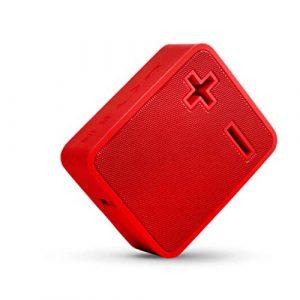 Ffshop Haut-Parleur Portable Bluetooth sans Fil Microphone intégré de Basse améliorée de Haut-Parleur sans Fil Bluetooth portatif portátiles (Color : Red)
