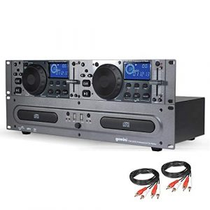 GEMINI CDX-2250i Double Lecteur CD MP3 / CD AUDIO/USB + Câbles