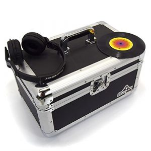 Gorilla 17,8cm Singles disque vinyle Housse de transport Boîte de rangement robuste pour 200pcs Inc Garantie à vie