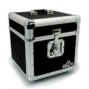Gorilla LP100Boîte de rangement pour 100 disques vinyles 30 cm 33 tours