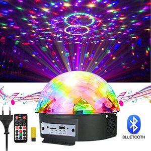 GUSODOR LED Bluetooth Éclairage Lampe de Scène à Télécommande&Commande Sonore Feux de Balle Magique en Cristal Sonore/Musique Jeux de Lumière pour DJ Disco Bar KTV Soirée Anniversaire Mariage Fête