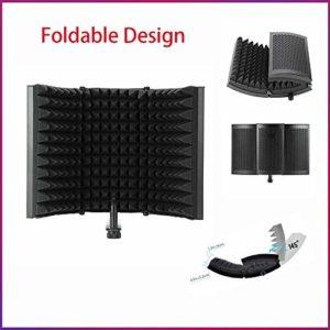Haavpoois Mic Schallabsorbierender Schaumreflektor-audio-schallschutz Für Die Aufzeichnung Ihrer Audio-schallschutz- Und Youtube-geräte