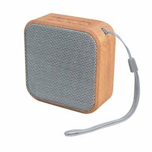 HEALLILY 1 Pc Haut-Parleur sans Fil Durable FM Radio en Bois Grain Grain Lecteur de Musique Haut-Parleur Haut-Parleur pour La Maison en Plein Air en Cours D'exécution