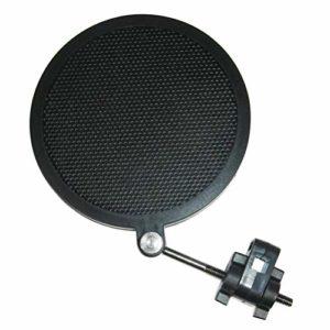 HEALLILY Filtre Anti-Pop Mic Microphone Double Couche Pop Pare-Brise pour Les Enregistrements de Studio à Domicile Ktv Diffusant Le Chant en Streaming (Noir Petit)