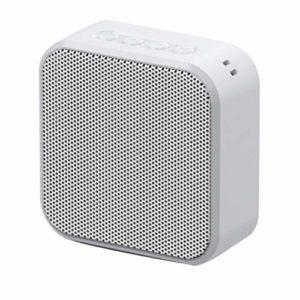HEALLILY Haut-Parleurs Stéréo Carrés sans Fil FM Radio Clear Bass TF Carte USB Lecteur de Musique pour La Maison en Plein Air (Blanc)