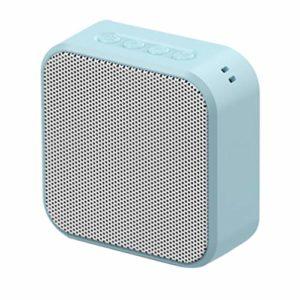 HEALLILY Haut-Parleurs Stéréo sans Fil Carrés FM Radio Clear Bass TF Carte USB Lecteur de Musique pour La Maison en Plein Air (Vert)