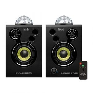 Hercules DJSpeaker 32 Party – Enceintes Actives Monitoring 2×15 watts avec lumières intégrées