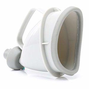 JIUY Voiture portable multifonctionnel Urinoir Mme Outdoor urinaire d'urgence Urinoir adulte femme enceinte (gris blanc)