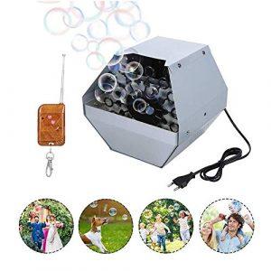 JOLLY Bubble Machine automatique portable avec le mode sans fil à distance et automatique, Bulle automatique softeen machine ventilateur Maker for intérieur ou extérieur Utilisation, parfait for la fê