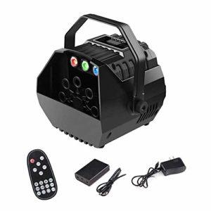Jolly LED Machine à Bulles for Les Enfants Bulles Ventilateur avec écran LED Fonctionnement ou télécommande sans Fil, Niveaux réglables de Vitesse, Powered by Plug-in ou des Batteries, intérieur/ext