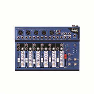 J-TUMIA Mixer Professional Conférence Audio de Performance en extérieur sur scène avec Table de mixage Pure à 7 canaux avec Prise en Charge du mixeur en Direct MP3 Bluetooth/Carte SD