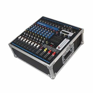 J-TUMIA Mixer Professional Mixer Suitcase Portable avec amplificateur 8 canaux de mixage avec amplificateur de mixage Professionnel Phase de mixage Amplificateur avec
