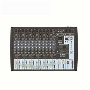 J-TUMIA Mixer Professional Table de mixage Pure Pure Professionnelle avec 12 canaux MP3 et 16 Types d'Effets DSP avec Prise en Charge du syntoniseur équilibré à 7 Bandes USB/Carte SD