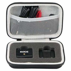 Khanka Dur Cas étui de Voyage Housse Porter pour RØDE Wireless Go Système de Microphone Compact sans Fil(case only)