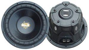 Lanzar MAXP104D Subwoofer voiture Max Pro, 4 ohm, 1200 W, 25,4 cm (10″)