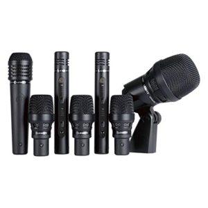 Lewitt DTP Beat Kit Pro 7 Cardio Kit de Microphone cardioïde contrôlable Double capsules + 3 Microphones dynamique super cardioïde + 2 Microphones condensateur cardioïde Double capsules + Microphone dynamique cardioïde polyvalent Noir