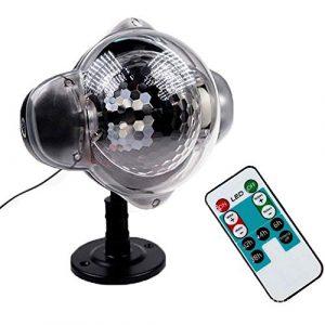 LMDH LED Projecteur, Lumière de Noël de neige, lampe projecteur dynamique Effet de neige Spotlight for Jardin Salle de bal, Fête, vacances Paysage décoratif