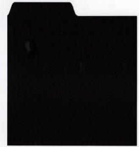 Lot DE 10 x 30,5 cm Pouce en Vinyle Noir LP Album Intercalaires de séparation à onglets