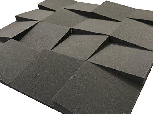Lot de 16dalles de traitement acoustique de 30,5cm en mousse Advanced Acoustics Slider – 1,48m²