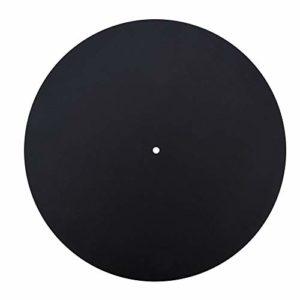 LP Disque Vinyle, Anti-Statique Disque Vinyle Platine Disque Antistatique Plat Doux en Cuir Véritable Tapis Slipmat Pad(1,5 mm d'épaisseur)