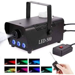 Machine à Fumée 500W Machine à Brouillard Avec Télécommande Et RGB LED Fogger Lumières D'effet Idéal Pour Les Fêtes, Les Discos DJ, Les Bars-500DANS