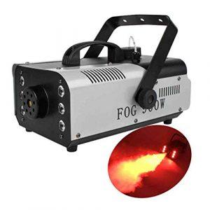 Machine à Fumée Brouillard Télécommande Sans Fil 7 Lumières Colorées 1500 W Fogger Professionnel Technique De Scène Pour Halloween, Noël, Mariage-1500DANS