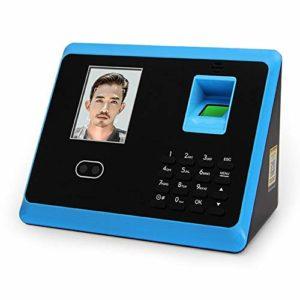 Machine présence d'empreintes digitales, d'empreintes digitales système de contrôle d'accès visage Set avec 2,8 pouces écran LCD (Color : Blue)