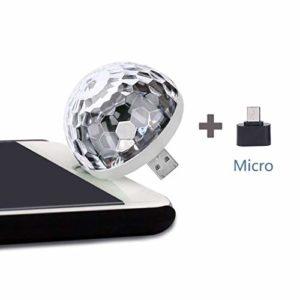 Magic Lights Mini veilleuse à LED USB Couleur Changée par la musique Son LED Lampe de scène pour Disco KTV Noël Bar Club Noël DJ Pub c