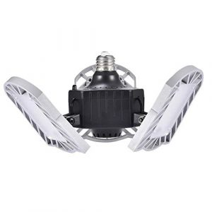 Makluce Éclairage De Garage Multifonctionnel Réglable Étanche 60W Lumière Blanche LED Éclairage Approprié pour Garage/Entrepôt/Atelier