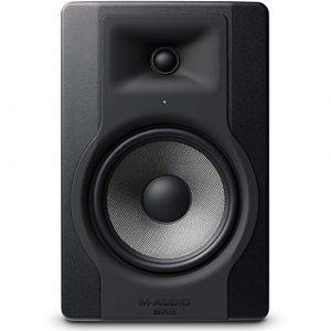 M-Audio – BX8 D3 – Moniteur de Studio 150 W Pro 2 Voies avec Woofer 8 Pouces pour Production Musicale avec Acoustique Space Control Intégré – Noir
