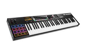 M-Audio – CODE 61 – Clavier Maître MIDI 61 Touches AfterTouch avec Pad Tactile X/Y, 16 Pads – 9 Faders + Logiciels VIP 3, Ableton Live Lite, Hybrid 3 et Loom Inclus – Noir