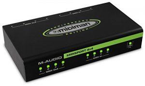 M-Audio MIDISPORT 4×4 Interface MIDI 4 Entrées/4 sorties alimentée par USB – Édition anniversaire