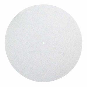 MCLseller Tapis de Platine en Laine synthétique résistant aux Vibrations pour Platine DJ 30,5 cm, Blanc.