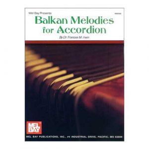 Mel Bay mélodies des Balkans pour accordéon