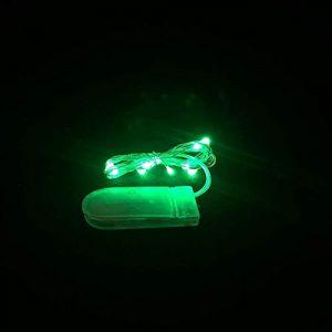 Micro LED Fairy Clair – 6 Cordons (3 Paquets de 2) (Vert)