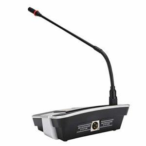 Microphone de réunion, Microphone Professionnel à condensateur de Bureau avec Un Son Clair, Robuste et Durable, Microphone d'ordinateur pour réunion/Travail/étude.