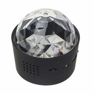 Mobestech Mini Boule Disco Lumières Son Activé Usb Partie Lampe Stroboscopique pour Les Fêtes à Domicile Bar Night Club Dj Karaoké de Mariage