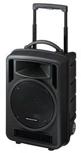 Monacor 1022cd Transport ables High Power Système amplificateur Noir