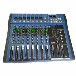 MXECO CT8 Table de mixage stéréo Professionnelle à 8 canaux Live USB Studio Audio Sound Console Network Anchor Device Vocal Effect Processor (Noir)