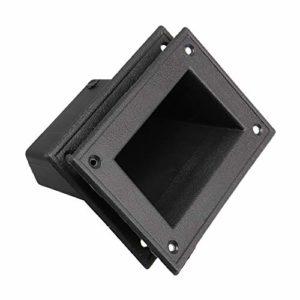Mxfans Lot de 2 poignées encastrées pour haut-parleurs et armoire portable 14 x 9 x 7 cm