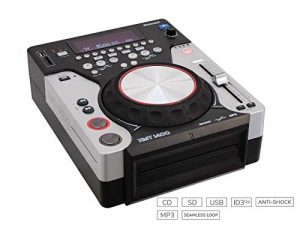 Omnitronic 057418 Lecteur XMT-1400 Table CD Noir