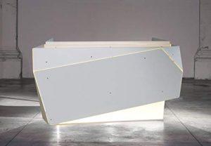 Origami J : Console DJ – Table pour DJ – Réception – Desk en aluminium avec éclairage LED