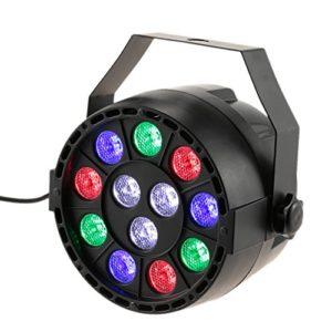 Par LED, Lixada DMX512 Lampe de scène Projecteur à effet, 12 LED RGBW 8 canaux, DMX512/Master Slave/stroboscope autonome/automatique pour Club Bar KTV Disco Show(1pcs)