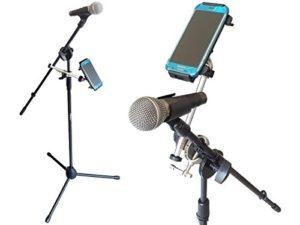 PIED DE MICRO AVEC SUPPORT DE FIXATION SUPPORT SMARTPHONE TABLETTE Microphone Support Trépied avec flèche incl. mikrofon-klemmhalterung et titulaires Modèle: ip02-ms7