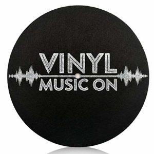 Platine Tourne-Disques Vinyle Lp, Tapis AntidéRapant Lp de 7,8 Pouces de DiamèTre Antistatique, Amortissement Des Vibrations, AméLioration des Performances Sonores