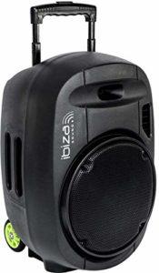 "PORT12VHF-MKII – Ibiza Sound – Système de sonorisation Portable Autonome 12"" / 700W avec USB-MP3, Bluetooth, Vox et 2 micros VHF 17-2602 Noir"