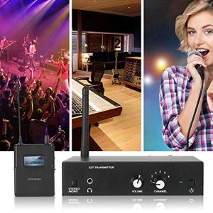 pour ANLEON S2 in Ear Ear Monitor System, Stereo Wirless Monitor System 561-568Mhz, 1 Transmitter, 1 Receiver, Perfect for Stage, Studio, Exhibit, Lecture, Speech(EU)