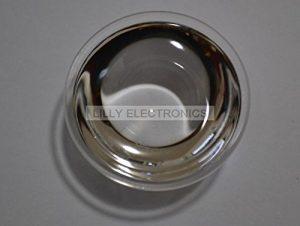 Q-BAIHE Lot de 3 lentilles à LED monoconvexe, diamètre 44 mm, lentille Optique en Verre